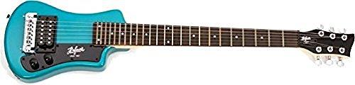 Hofner 6 String Shorty Electric Travel Guitar-Blue w/Gig Bag, Right Handed (HCT-SH-BL-O)