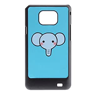 GONGXI-Diseño Flash Cartoon Elephant Pattern duro caso para Samsung I9100 Galaxy S2