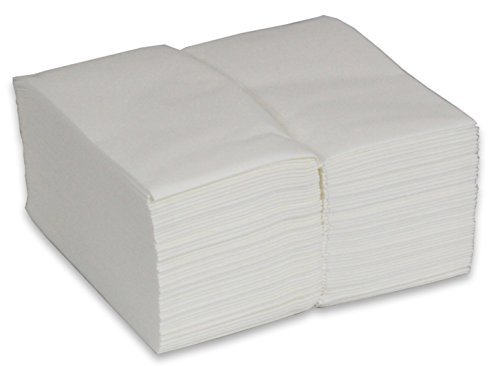 - 2dayShip Cloth-like Guest Towels 12 X 17 White Disposable Hand Napkins - 100 Pack