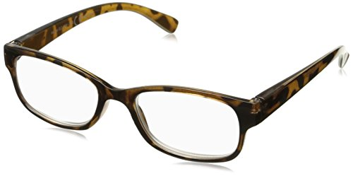 Sight Station Women's Heather 1016952-100.COM Square Reading Glasses, Golden Tortoise, 1 (Sight Station)