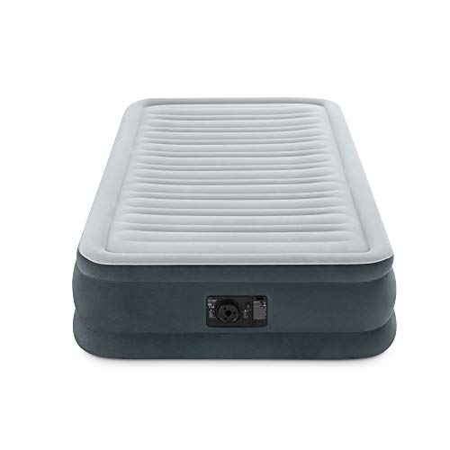 Intex Comfort Plush Mid Rise Dura-Beam Airbed with Internal Electric Pump, Bed Height 13'', Twin by Intex