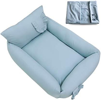 犬猫ソファベッド、 猫犬のベッドクッション/取り外し可能なウォッシャブル2つのカバーは/共同-救済および改善スリープ/ブルーのために変更することができで (Size : L)