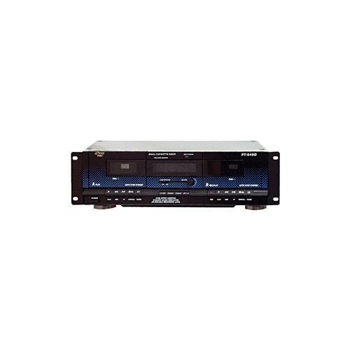 New Pyle PT649D Dual Cassette Deck W// RCA Line Inputs and Outputs /& 3 Digit Tape