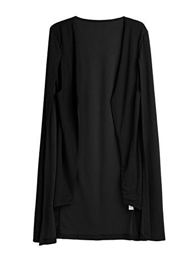 Cocktail Noir Manteau Tiaobug Blouson Cérémonie Vêtement 4xl Split Cape Cardigan De Manches Femme Ouvert Soirée Asymétrique Loose Sans M Blazer wS4qaw
