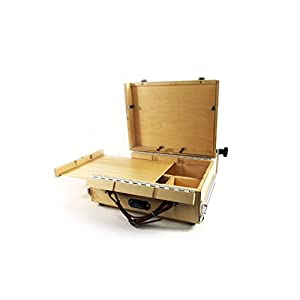 Guerrilla Painter 9×12 Guerrilla Box Plein Air Painting Pochade Box with In Lid Easel for 9×12 in panels or canvas and Storage