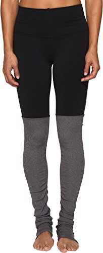 ALO Women's High Waisted Goddess Leggings Black/Stormy Heather Small 33 by ALO Sport (Image #2)