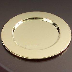 Godinger Round Charger Plate Brass – Set of 12
