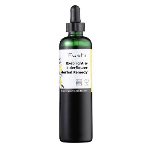 Fushi Augentrost und Holunderblüte pflanzliches Ergänzungsmittel 100ml, 1:2@25% Bio zertifiziert