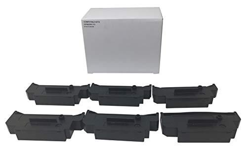 6 Compatible tec MA-516 MA-561 Printing Ink Ribbon Cartridge Replacement for Citizen Purple IR51PU Cassette POS dot Matrix Impact Cash Register