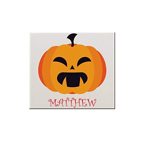Style In Print Custom Text Pumpkin Halloween Spooky Ceramic Accent Mural Tile Backsplash - 4