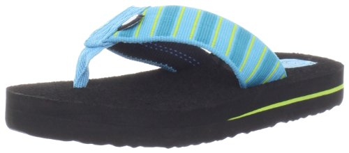 Teva Mush II C's Flip Flop ,Deco Stripes Blue,9 M US Toddler