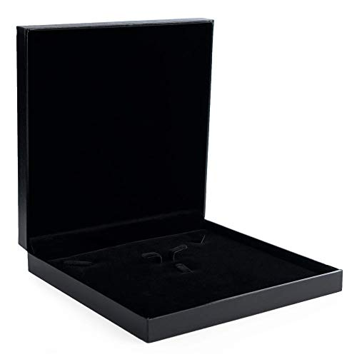 Oirlv Black Jewelry Set Box,Ring/Earrings/Big Necklace Gift Case