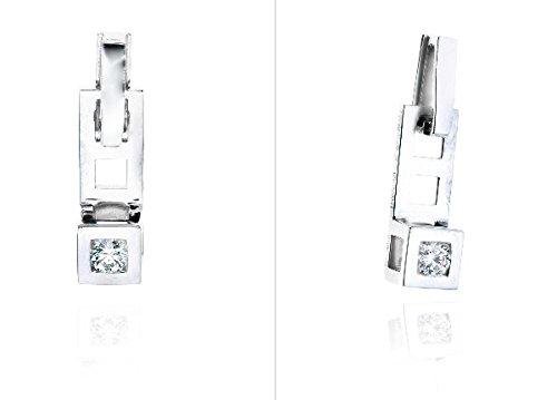 PURE - Pendentif Diamant - Or 18 carat - Poids du diamant: 0.15 carat - www.diamants-perles.com