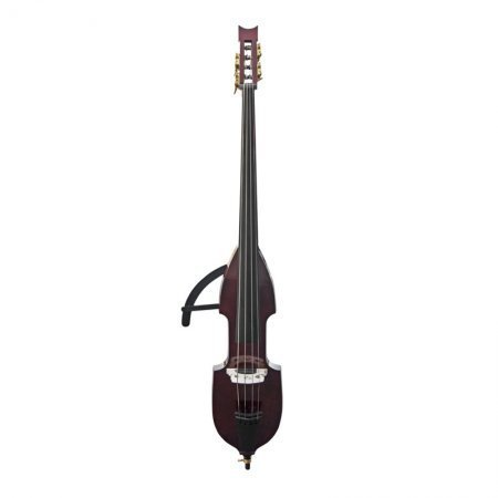 CECILIO CEDB-1DW 3/4 Size ELECTRIC SILENT MAHOGANY METALIC UPRIGHT DOUBLE BASS