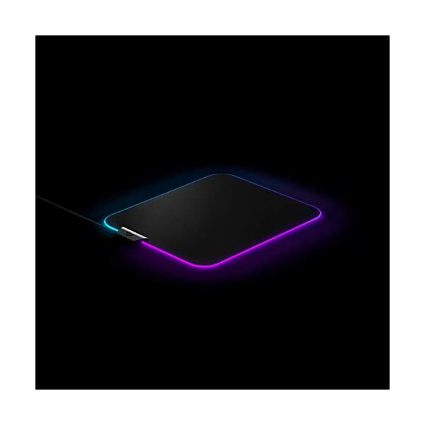 SteelSeries QcK Gaming Surface - Medium RGB Prism Cloth - Best Selling Mouse Pad of All Time - Optimized for Gaming…
