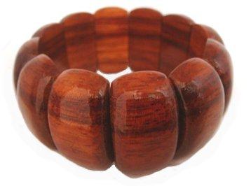Hawaiian Jewelry Koa Wood Elastic Bracelet - 7.0