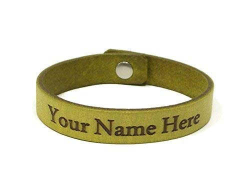 amazon com personalized laser engraved leather bracelet with name