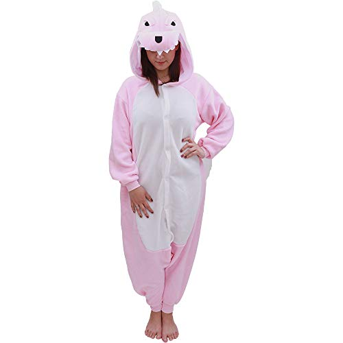Animal Onesie Dinosaur Pajamas-Plush One Piece Costume (X-Large, Pink)]()