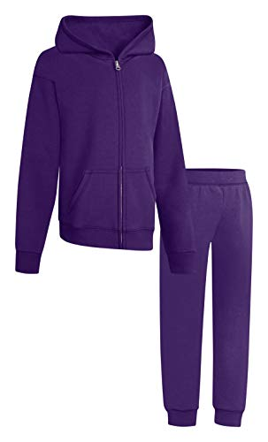 Hanes Hoodies Girls Purple Thora with Hanes Sweatpants Purple Thora