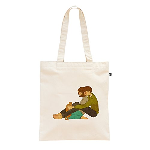 Illustrator Puuung, Print Canvas Eco Bag, 14 x 15 in (With Garfield)