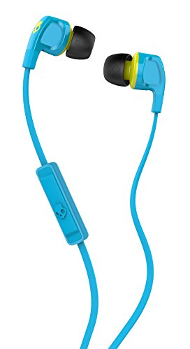 Skullcandy Smokin' Buds 2 Earbuds with Mic Hot Blue/Hot Lime, One Size