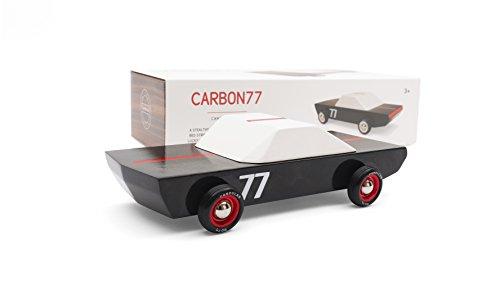 (Candylab Toys - Carbon77 Wooden Car - Modern Vintage Racer - Solid Beech Wood)