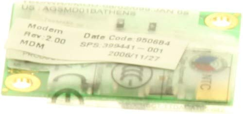 HP 399441-001 Modem board – 56K, V.92, AC97 data/fax modem daughter card (MDC) – Features digital line guard