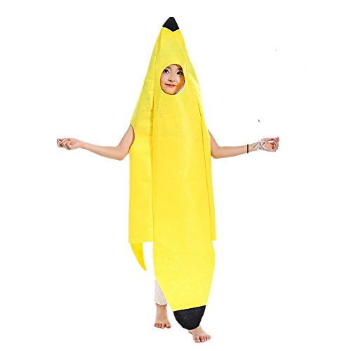 Kid Banana Costume - QBSM Fruit Suit Lightweight Halloween Banana Costumes Funny Suit for Child Kids (Banana)