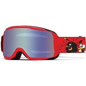 Smith Optics Daredevil Junior Series Youth Snocross Snowmobile Goggles Eyewear - Red Angry Birds/Blue Sensor / - Mobile Sunglasses Al