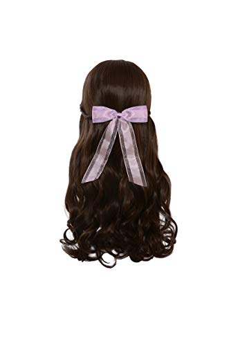 Yilys Long Wave Brown Cosplay Wig with Bowknot For Women Girls]()
