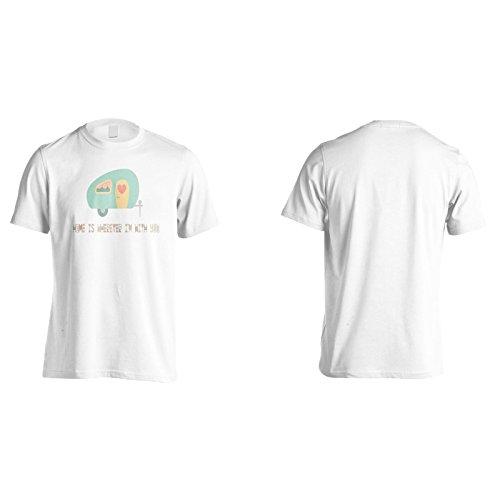Zuhause Ist Wo Auch Immer Ich Mit Dir Herren T-Shirt k602m
