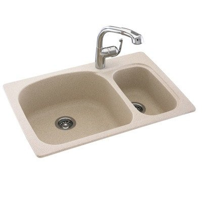 Swanstone KS03322LS.035 Solid Surface 1-Hole Drop in Double-