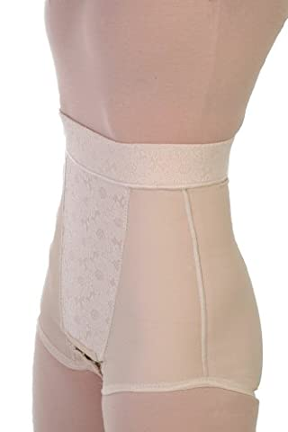 Post Op Abdominoplasty Tummy Tuck Compression Garments - Liposuction Surgical 2in Waist Panty Girdle | Contour Style 22 - Medium - (Post Tummy Tuck)