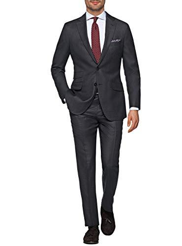 LN LUCIANO NATAZZI Italian Men's Suit 180'S Wool Cashmere Ticket Pocket Jacket (36 Short US / 46S EU/W 30
