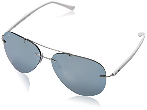Ray-Ban Men's Titanium Man Aviator Sunglasses, Silver, 59 - Aviator Sunglasses Ban Ray Rimless