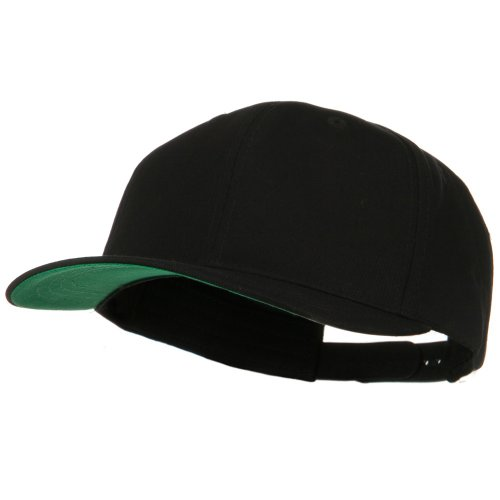 Brushed Cotton Twill High Profile Extra Size Cap - Black (For Big Head) (Large Head)