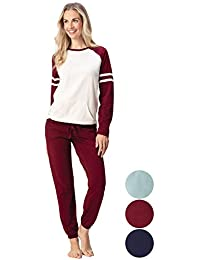 Womens Pajamas Cotton - Jersey PJ Sets for Women, Sunday Funday