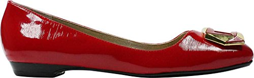 J.renee Womens Tustin Ballet Flat True Red Patent