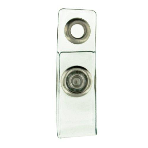 Badge Holder Strap (Clear Plastic Badge Holder Snap Strap)