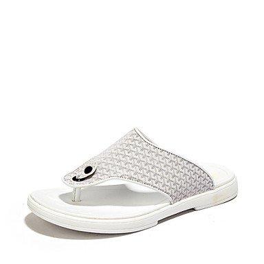 Sandalias de verano zapatos de hombre casual zapatillas / Flip-Flops Cuero negro / azul / blanco Blue