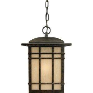 Adagio Ceiling Light (Quoizel EB9013AO Ellerbee 23-Inch Medium Post Lantern with Amber Seedy Glass, Adagio Finish)