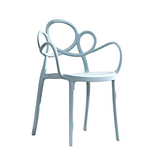 CHU N Plastic Chair Cafe Moderna for Las Barras, Bistro & Cafe Patio Mejor Inicio Jardin Sillas de Uso Interior y Exterior (Size : Blue)