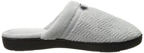 Pantofole Isotoner Da Donna Con Zigrinatura Microterry Grigio Chiaro
