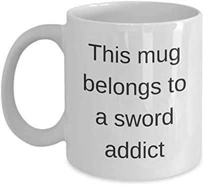 Sword Addict Mug Gag Gift Coffee Mug Belongs to Instructor ...