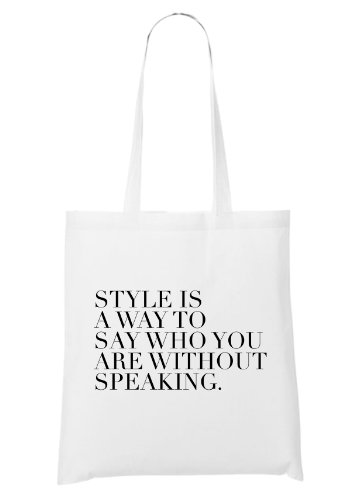 Style Is A Way To Say... Bolsa Blanco