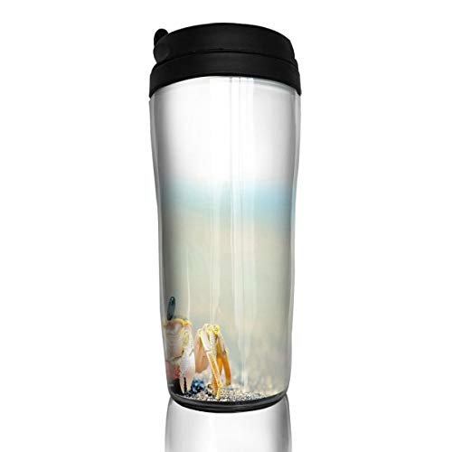 (Coffee Cup Animals Under Water Small Crab On Beach Travel Tumbler Insulated Leak Proof Drink Containers Holder Cool 12 Ounces)