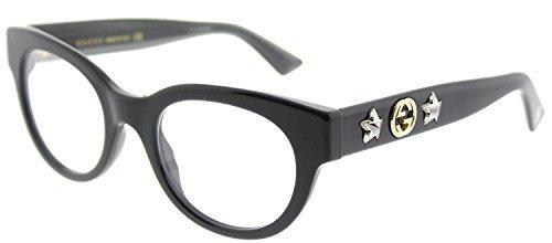 Gucci GG 0209O 001 Black Plastic Fashion Eyeglasses 48mm