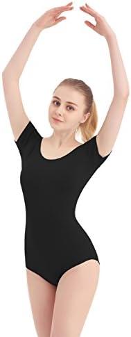 SUPRNOWA Womens Scoop Neck Lycra Spandex Long Sleeve Leotard