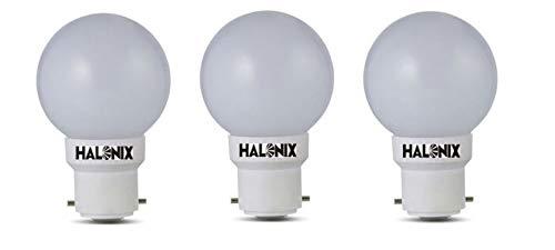 Halonix B22 0.5-Watt Led 0.5W Night Bulb (Pack of 3, White, Round)