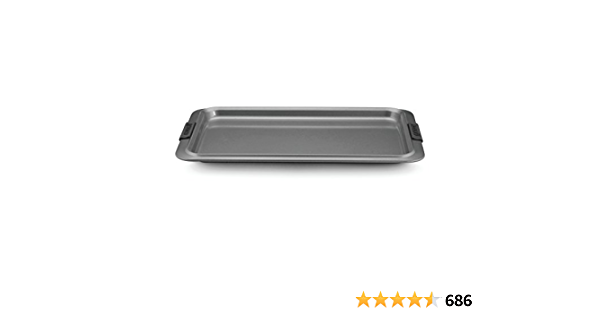 Anolon Advanced Nonstick Bakeware with Grips, Nonstick Cookie Sheet / Baking Sheet - 11 Inch x 17 Inch, Gray